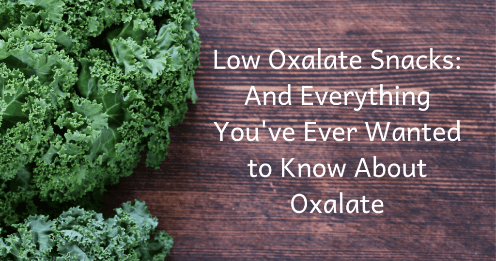 low oxalate snacks